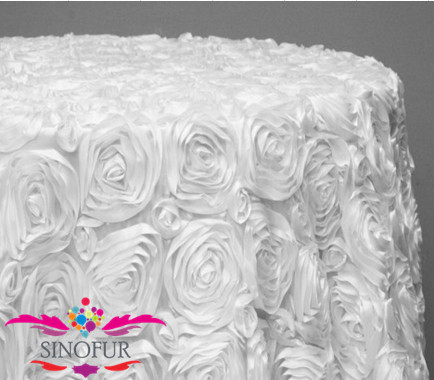 Made from SinoFur wedding rosette table cloth