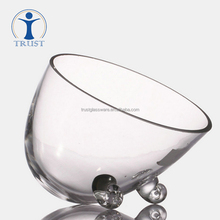 Wholesale High Quality Factory New Design Classic Decoration personalized shaped clear glass bowl