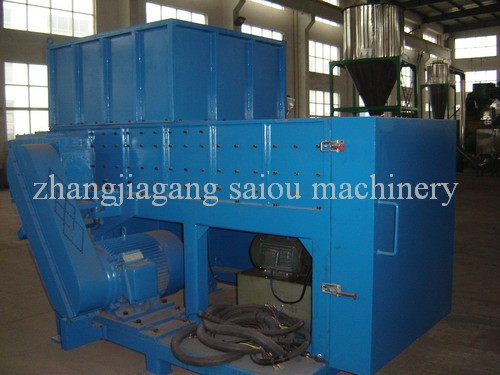 Single shaft shredder plastic shredding machine
