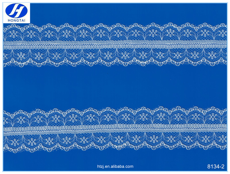 Hongtai New product in China flower chantilly turkish lace ribbon lace trims