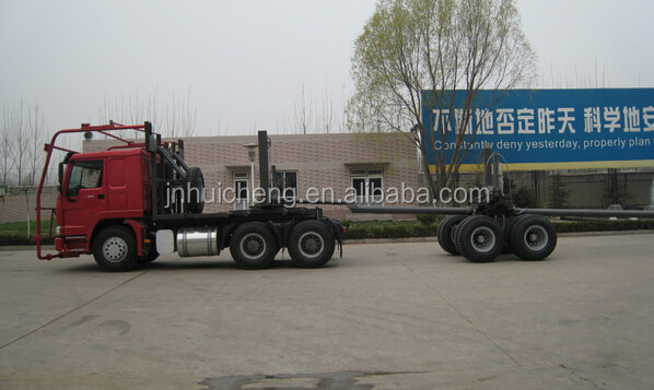 Sinotruk Howo New Euro2 10m3 371HP 12.00R20 tire log carrier heavy equipment trucks low price for sale