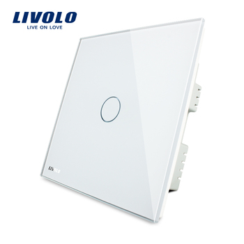 Livolo 1 gang 1way white smart home touch screen wall light controls switch UK standard VL-C301-61