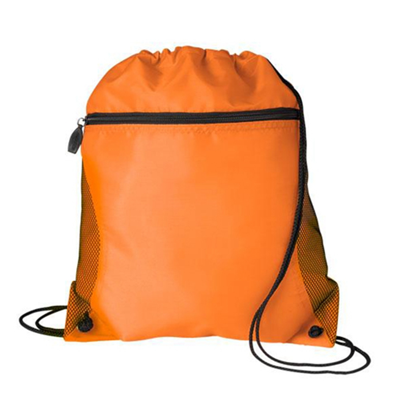 China supplier promotional custom colourful non woven drawstring backpack