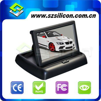 "Motorized 4.3 "" TFT LCD digital foldable tft car monitor"