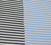 100% cotton black and white stripes fabric for retail packing