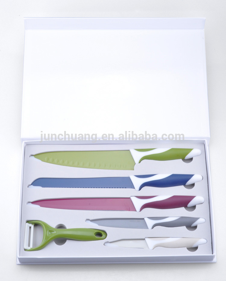 novelty colorful non stick swiss kitchen knife set buy