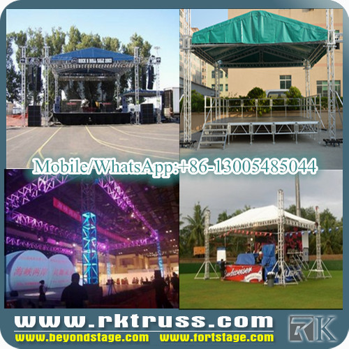 stage truss with two wings on hot selling