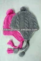 hand knitted earflap hat crochet pattern