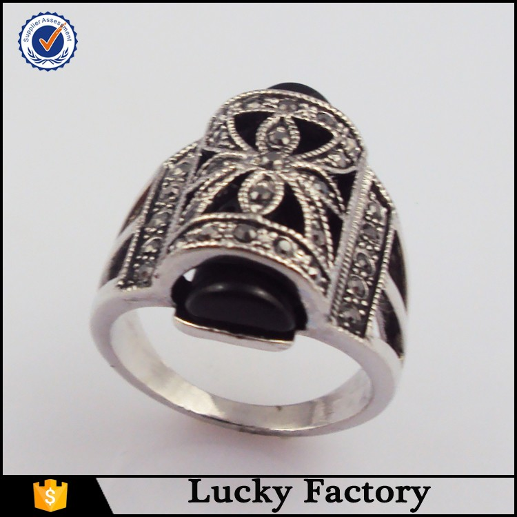 wholesale fashion jewelry antique engagement ring in brass