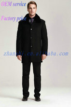 Latest Design Cheap Fashion Black Mens wool overcoat BeiJing