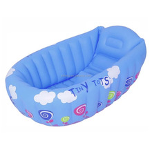 EN71 6P PVC inflatable baby bath tub pvc paddling pool for baby swimming with printing