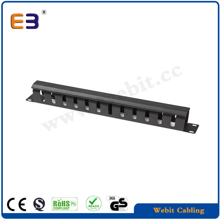 1U Metal Cable Management 1U 19 Inch Horizontal Rackmountable