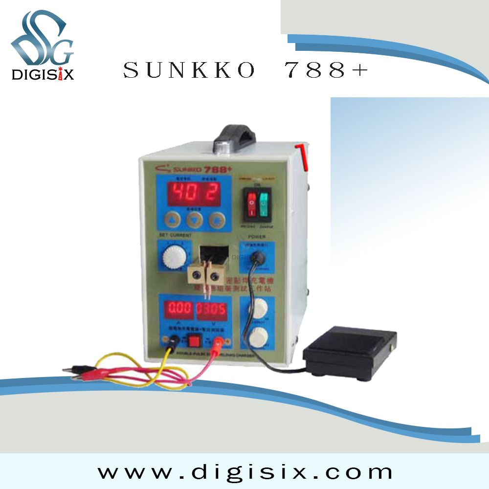 free shipping SUNKKO 788+ Dual Pulse Battery Spot Welder Welding Machine +Battery Charger 220V