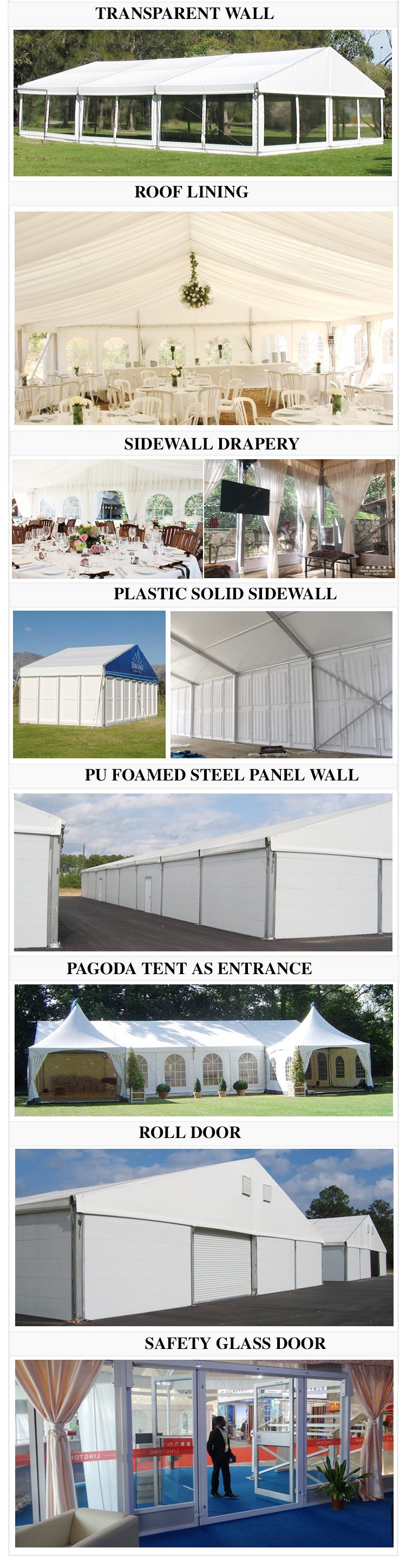 20x50 tent structure metal storage shed GSL-20