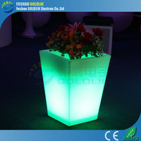 GLACS Control modern led flower pot /new led flower pot/garden tower flower plante