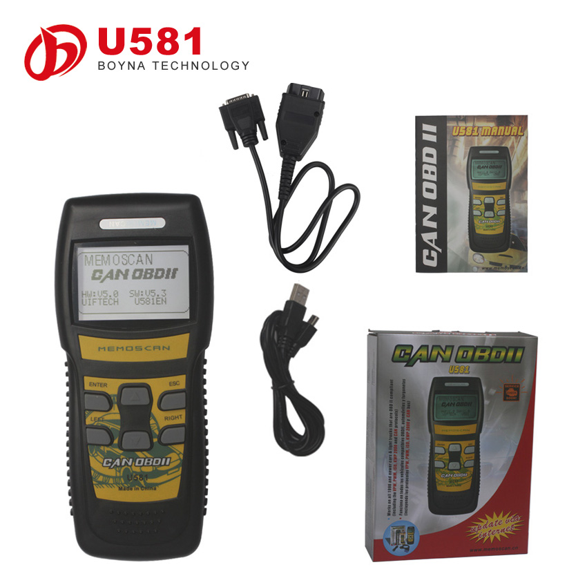 2015 Hot Promotion OBD II Code Reader MemoScan Auto Diagnostic Scanner U581 OBD2 Fault Code Reader
