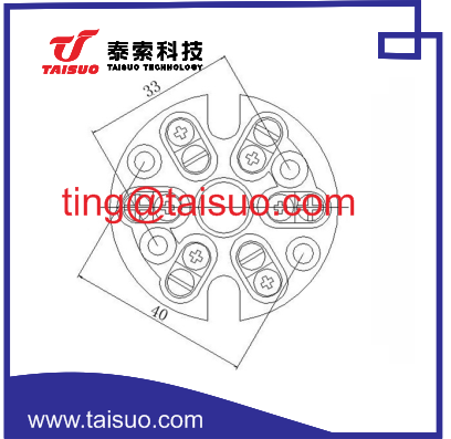 ceramic plug connector thermocouple connector plug D-2P-C