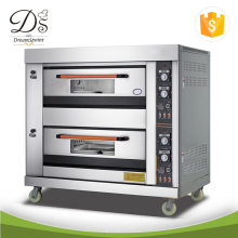 Kitchen stainless steel baking bread 2-deck 4-tray electric bakery oven