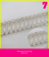 New Style Dress Sash Decorative Chain Trimming Sew on Fabric Crystal Banding Trim