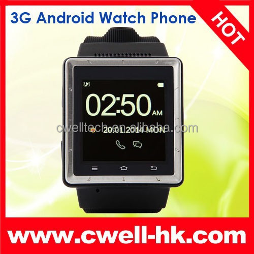 ZGPAX S6 Mobile Watch Mobile Phone With MTK6577 CPU Android 4.0 WCDMA 850/1900/2100MHz Hand Wrist Android Watch Phone Good Quali