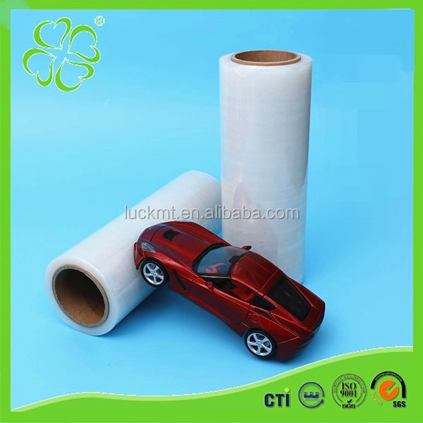 Plastic Packing LLDPE Handle Roll 15mic Stretch Film