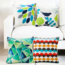 2015 New fashion suzani printing cotton linen cushion cover hotel decor pillow cover
