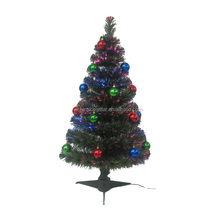 Artificial LED Spiral Fiber Optic Christmas Tree White/Green Color