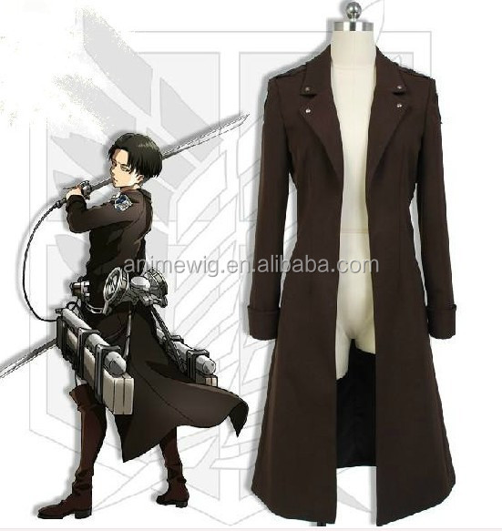 Japanese anime Attack on Titan Eren Jaeger men coffee long cloak Cosplay costume
