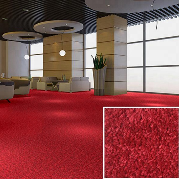 PP material tufted cut pile carpet for hotel room