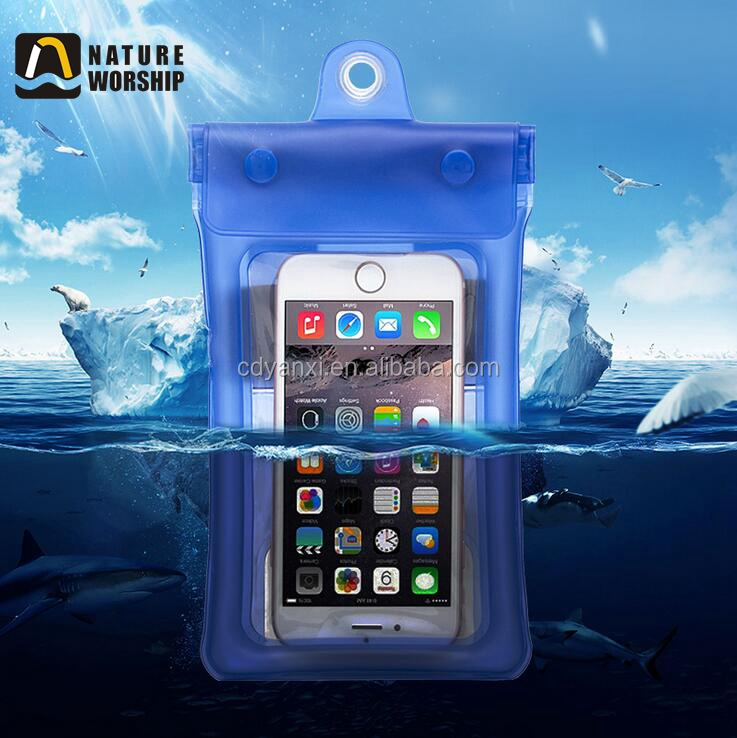 Promotional High Quality Mobile Phone PVC Waterproof Bag, Custom Unbreakable Waterproof Cell Phone Bag Cases