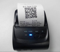 MINI Portable 58 mm Thermal Bluetooth thermal printer for POS System, Bill and Receipt Support USB , Mobile,PC(Win + android+IOS