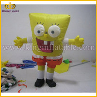 Good Quality Adult Size Funny Customized Cheap Inflatable SpongeBob Mascot Costume