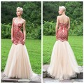 tulle beading designer one piece floor touching evening dress