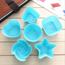 hot sale silicone rose cake mold /cupcake liners