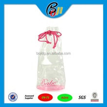 Promotional Eco-Friendly Clear Plastic Gift Bag PVC Drawstring Bag