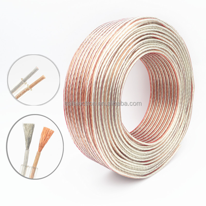 Safelectron 100 meters 2 CORE 14AWG 2mm Soft flexible Speaker Cable