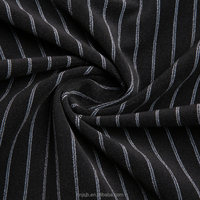 Wholesale Stripe Design 100% Polyester Yarn Dyed Fabric polyester fabric mens pant coat fabric