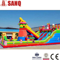 Giant Inflatable Water Slide Fire Truck Inflatable Water Slide