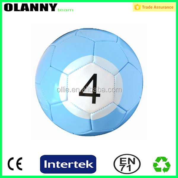 factory price brand logo custom pool soccer ball size 4