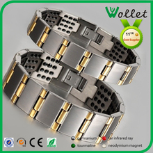 Wholsales magnetic healthy stainless steel couple bracelet for love