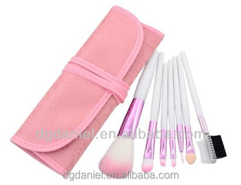 7pcs new products korea style wholesale pink makeup brush