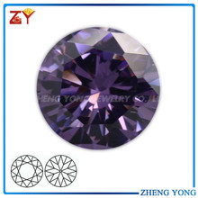 Wholesale good quality synthetic amethyst cubic zirconia round beads