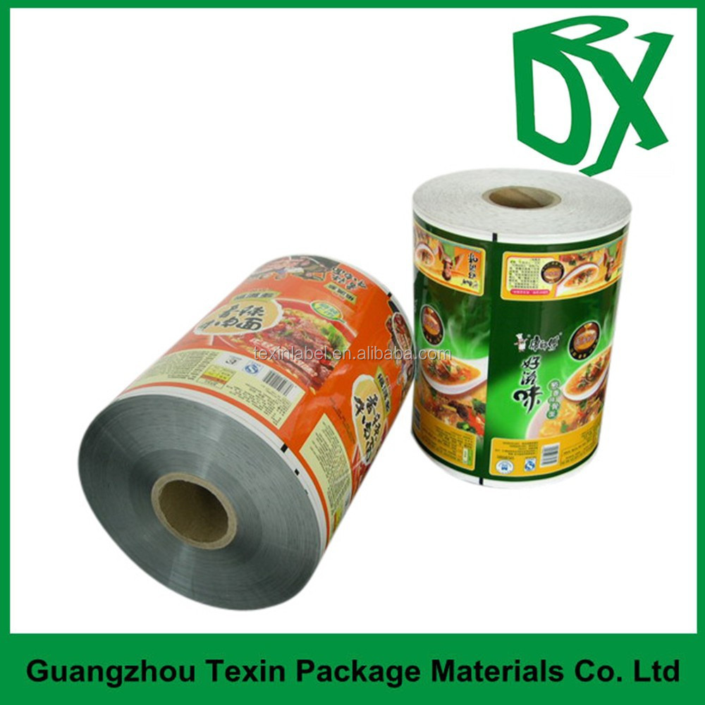 Flexible Plastic custom printed snack bags Roll Film / Laminating Film Rolls for Snacks Packaging