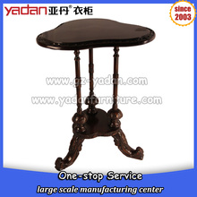 Mushroom shaped black double layer wood sofa coffee table side table