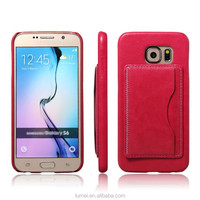 Wallet Flip PU Leather Case With Card Hold For Samsung Galaxy S6 Edge