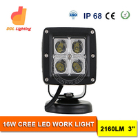 hot sale mini lights square 16w crees led work light 4x4 auto car driving lights