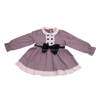 2016 children clothing long sleeve bowtie 3 year old girl dress