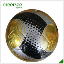 Meersee branded official size 5 machine sewn laser shine PVC foam football