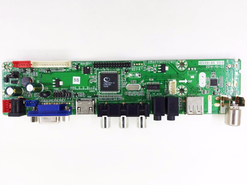 Universal with firmware led tv mainboard with USB VGA connector