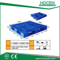 For fork truck use container Cross Type Plastic Pallet